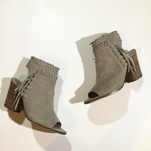 LUCKY BRAND Womens Size 8.5 Ointlee Fringe Booties